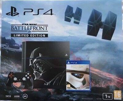 Darth Vader Limited Edition Sony Playstation 4 1Tb Star Wars Console Rare New