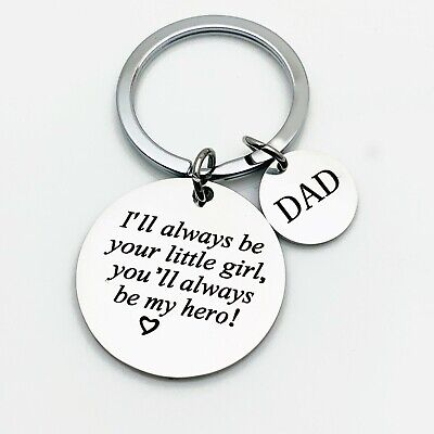 PERSONALISED FATHER SON Photo Keyring Fathers Day Gifts