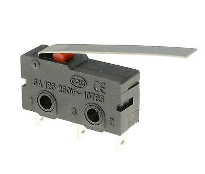 5 x Lever Actuator Microswitch SPDT 5A Micro Switch