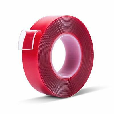 Magic Double-sided Adhesive Tape Traceless Washable Nano Invisible Gel Red