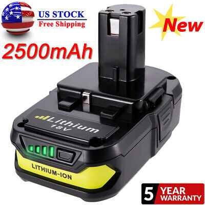 For RYOBI P107 2.5Ah 18V battery ONE+ MAX P104 Lithium P108 P105 P103 P102 P106