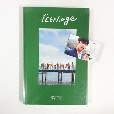 Seventeen TEEN, AGE Green Ver CD+Photobook+sticker+Lyrics Paper+DK Photocard
