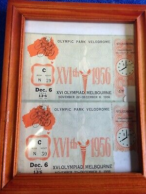 vintage 1956 melbourne olympic games tickets to veledrome