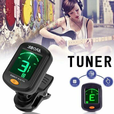 A026 Clip Type Electric Digital Guitar Tuner Foldable High Rotating Accessories