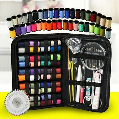 128PCS/set Home Travel Sewing Kit Thread Threader Needle Tape Measure Scissor
