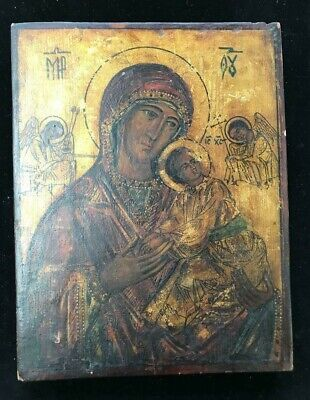 Rare ca.18th century Antique Russian Icon of Our Lady of Perpetual Help