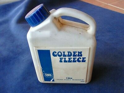 Vintage Golden Fleece 1 Litre Plastic Container not Bottle or Tin