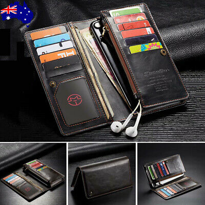 Samsung Galaxy S10 5G S9 S8 Plus S7 Leather Zipper Flip Wallet Card Case Cover