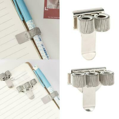 Metal Spring Pen Holder With Pocket Clip Doctors Nurse Pen Holders Uniform F9I1