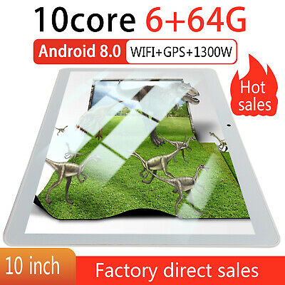 """10"""" Tablet PC 6G+64G 8 Core Android 8.0 Dual SIM Camera Wi-Fi Phone Phablet UK"""