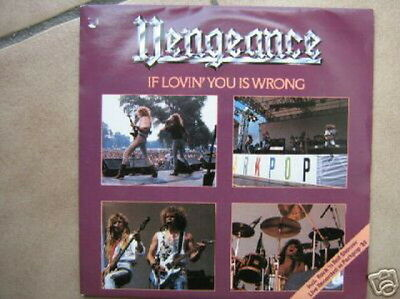 Vengeance 45 Tours Hollande If Lovin' You Is Wrong