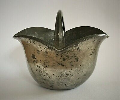 Vintage Danish 'Just Anderson' Small Tulip Shaped Pewter Basket (1772)