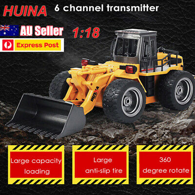 AU HUINA 1520 1:18 2.4G 6CH Excavator RC Construction Tractor Truck Kids Toy