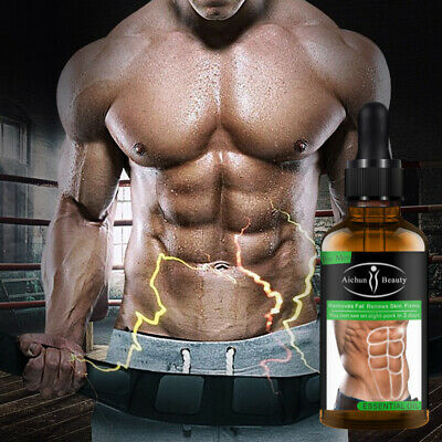 NEW! Eight Pack Essential Oil Men Weight Loss Press Belly Burning Fat 30ml