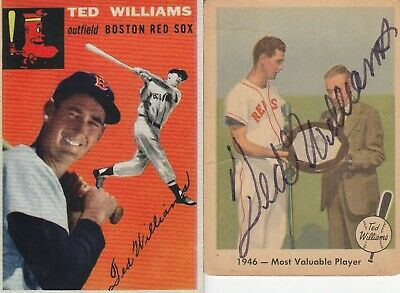 Ted Williams 1954 Topps Reprint Boston Red Sox Hall Of Fame Of Card With Bonus