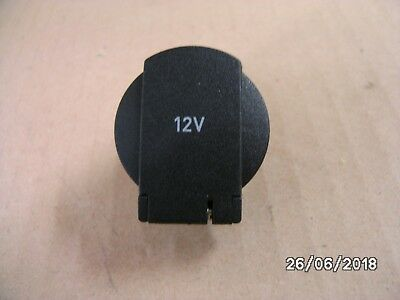 Genuine Seat Vw Audi Skoda 12V Socket Hinged Cap & Sleeve 1K0919341J 9B9 Black