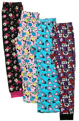 Ladies Pyjama Bottoms Ex Store Disney Character Lounge Pj Pants Uk 4-18 New