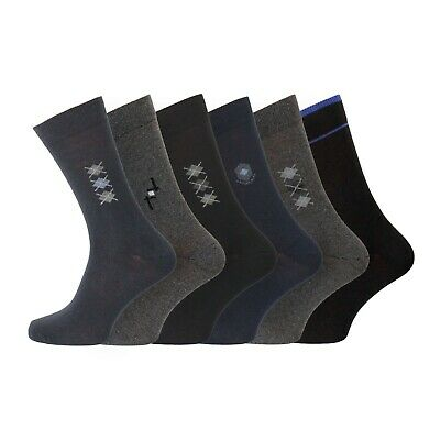 Mens Essential Socks GryBlackBlu Argy Dia X UK 6-11 EU 39-45 Buy It Now(6 12 Pk)