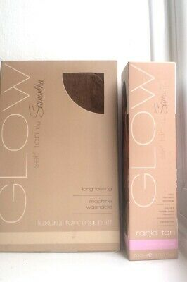 GLOW Self Tan By Samantha  Rapid Tan Instant Mousse + Luxury Tanning Mitt