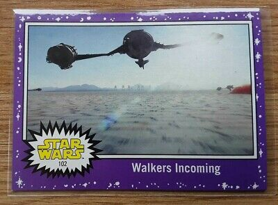 Star Wars Journey to the Last Jedi ~ PURPLE PARALLEL BASE CARD 102
