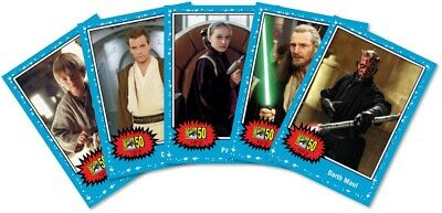 TOPPS STAR WARS COMIC CON  5 Card Set Limited Ed 2019