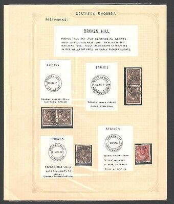 NORTHERN RHODESIA - POSTMARK collection  - BROKEN HILL - see scans