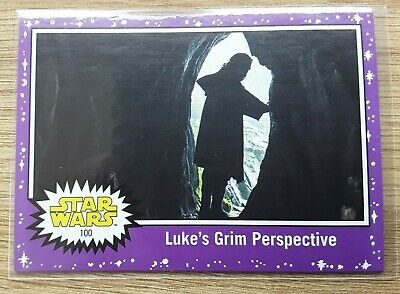 Star Wars Journey to the Last Jedi ~ PURPLE PARALLEL BASE CARD 100