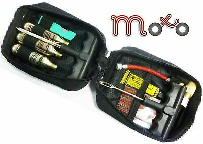 Moto Motorcycle Tubeless Flat Tyre Emergency Puncture Repair Kit With Pouch