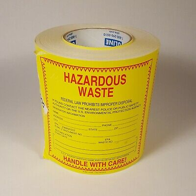 """Uline Hazardous Waste Labels S-369 - Roll of 500 - 6"""" x 6"""" -  Handle With Care"""