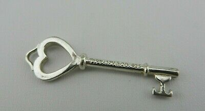 Tiffany & Co. Sterling Silver Heart Key Necklace Pendant (Pendant Only)