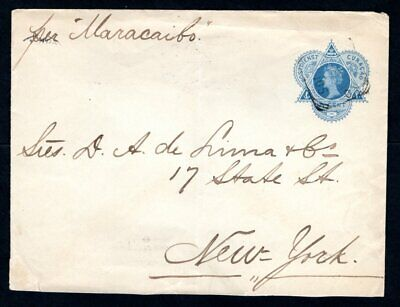 Curacao - 1905 Pre paid Cover to New York