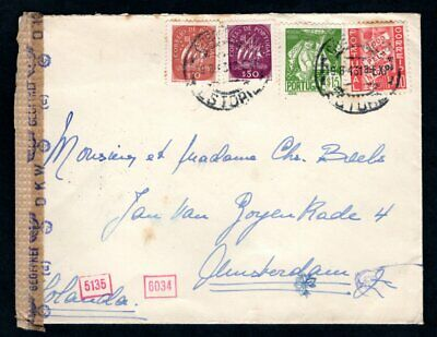 Portugal - 1943 German Censor Cover to Amsterdam