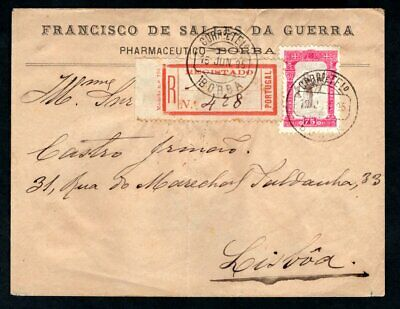 Portugal - 1895 700th Birthday of St Anthony sg 334 75c on Registered Cover