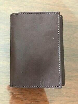"""Buxton /""""America Strong/"""" Genuine Leather Trifold Wallet Brown"""