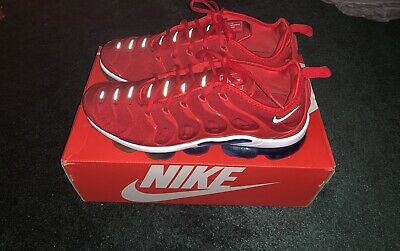 "Nike MENS Air Vapormax Plus ""USA"" University Red White Blue Size 12 AUTHENTIC"