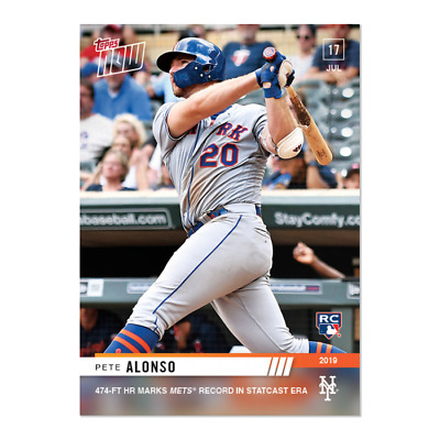 2019 Topps NOW 524 Pete Alonso RC Mets 474 ft HR Mets Record