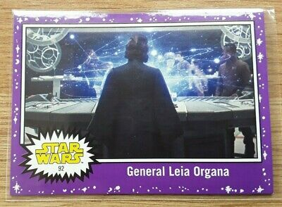 Star Wars Journey to the Last Jedi ~ PURPLE PARALLEL BASE CARD 92