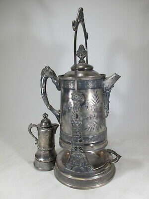 Hartford & Warren, NY quadruple silverplate pitcher # D10408