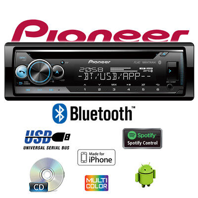 Pionero DEH-S510BT Bluetooth Spotify CD USB Android IPHONE Multicolor Autoradio