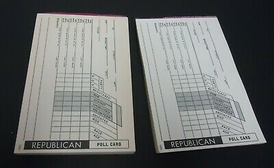vintage republican party polling cards booklets unused us GOP political voting