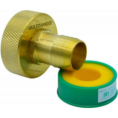 Connector Female S60x6 - Tip Fluted 30mm Brass