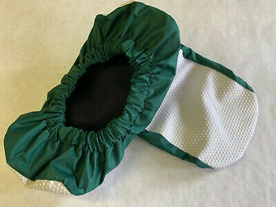 SHOE COVERS - New! Washable, Reuseable, slip-resistant sole, Green, One Size