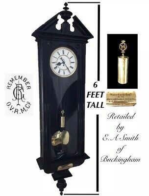 Huge 6 FOOT tall  Vienna Regulator Clock Fantastic Buckinghamshire History