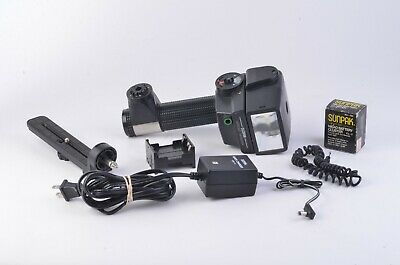 Exc++ Sunpak Auto 522 Handle Mount Flash, Bracket, Sync Cord, Aa & Nicad Packs+