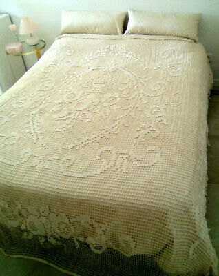French Antique Lace bed cover