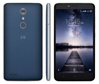 "New UNLOCKED ZTE ZMAX Pro Z981 4G LTE- 32GB -Finger Print Touch phone 6"" Screen"