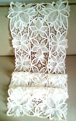 French Vintage  Lace Curtain Panel