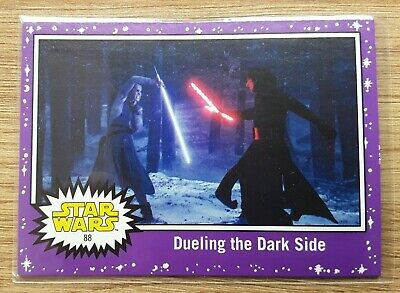 Star Wars Journey to the Last Jedi ~ PURPLE PARALLEL BASE CARD 88