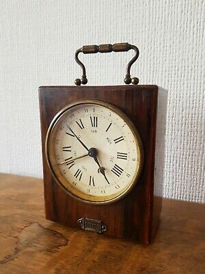 Beautiful Working Antique Depose Carriage Clock French Brevete Mechanism