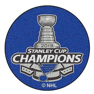 """St Louis Blues 2019 Stanley Cup Champions 27"""" Hockey Puck Shaped Area Rug"""